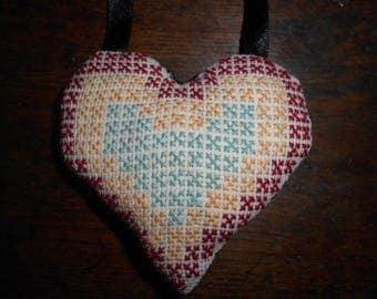 hand embroidered heart