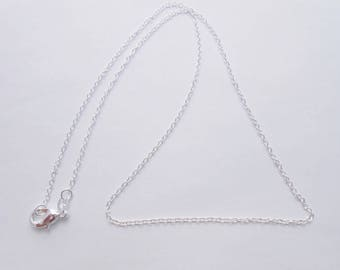 Chain link 925 sterling silver, 45 cm