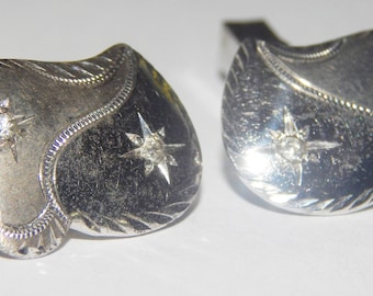 Vintage Silver Tone Men's Cufflinks