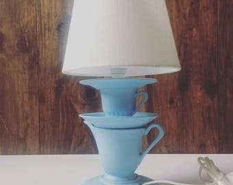 Upcycled spirit bedside lamp