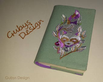 Book jacket with embroidery