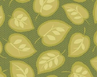Patchwork fabric Benartex - leaf green - Modern Mix collection - Coupon 50 by 110 cm