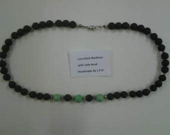 Jade and Lava Rock necklace