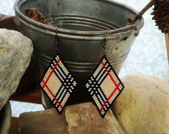 Diamond Miyuki beads earrings