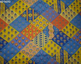 Provence fabric coupon 50 * 70cm yellow/blue/orange [ref 060 * 5070]