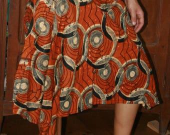 skirt unique asymmetric long mid wax