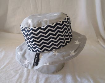 Hat - Reversible bucket Hat - 12-18 months (49.5 cm diameter)