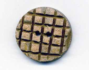 Coconut button raw tiles 22 mm