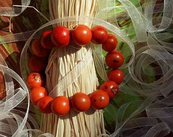 Seeds of Amazonia in Brazil Orange forest bracelet