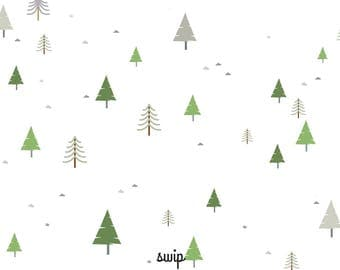 """Wipes-glasses pattern """"forest"""" - double-sided printing"""