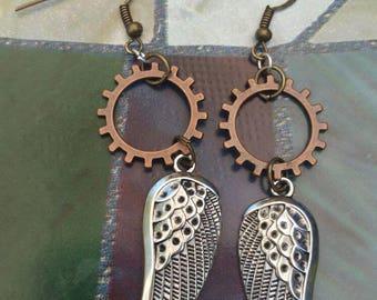 Geared Wing Earrings