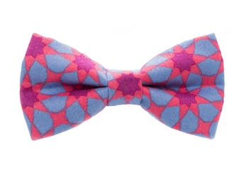 Star/Abstract/Fuschia and Blue Dog Bow Tie/Cat Bow Tie/Pet Accessories