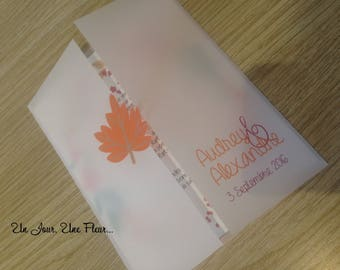 Fall theme wedding invitation