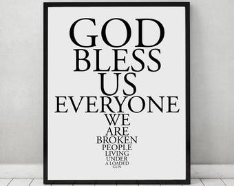 God Bless Us Everyone The Catalyst Lyrics Poster, Linkin Park Digital Wall Art, Chester Bennington Poster, Digital Download Printable Art