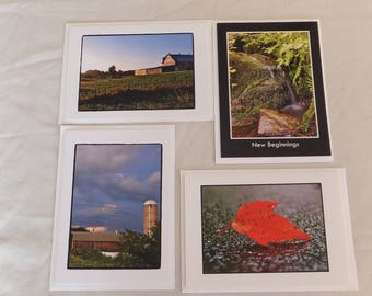 Set of 4 all occasion greeting cards