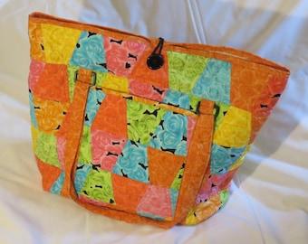 Summer Rose Beach Bag