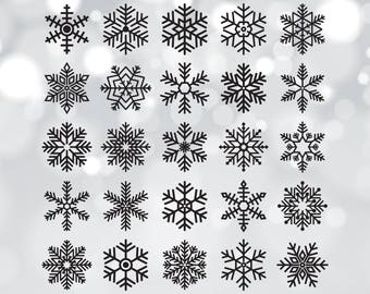 Snowflakes cut file, Snowflakes Svg, Winter Svg, Christmas Svg, Svg Cut Files, Snow Svg, Cut Files, Svg Silhouette