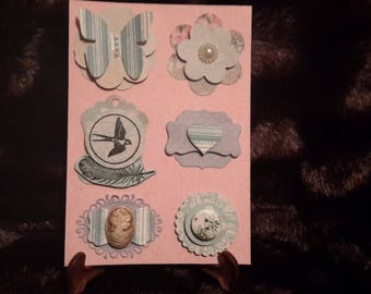 Embellishments for scrapbooking 3D