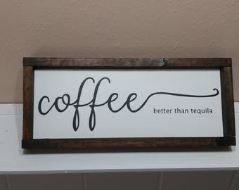 Coffee Wood sign