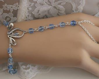 """""""Erin"""" blue Celtic Medieval ring Bracelet"""