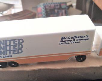 RALSTOY Die Cast UNITED Van Lines Tractor Trailer Like New Original Box