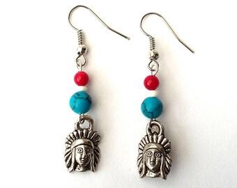 Indian dangle charm earrings