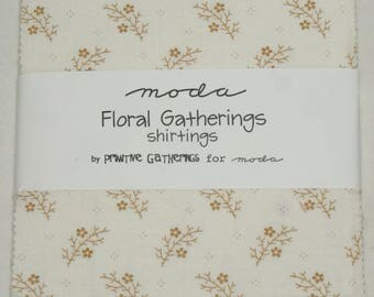 "Patchwork charm pack by moda - ""Floral Gatherings Shirtings""."