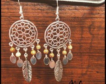 """Earring Silver """"Mandalas"""" / Jasper"""