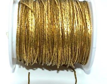 Chain Metal alternating matte/satin - finish by 50cm - old gold - CHM115VOR148