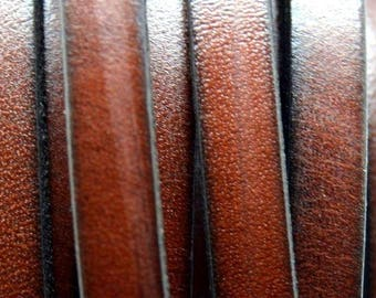 Flat leather 1st quality - 6x1.9mm - Brown - 20 cm