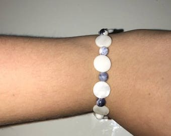 White Circles With Beautiful Beads Bracelet