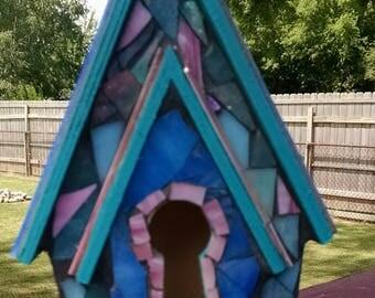 Glass Mosiac Bird House