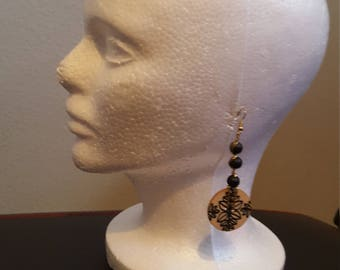 Fun Black and Tan Earrings