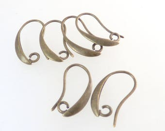 6 hooks metal color hook bronze