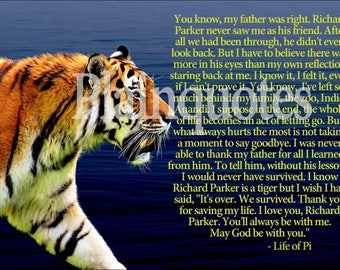 Life of Pi Quote poster