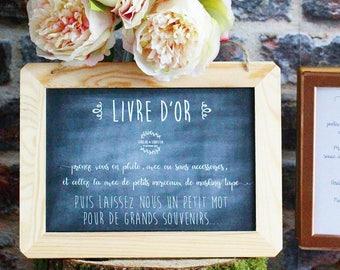 Wedding guest book poster