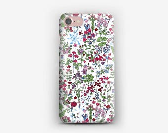 Case for iPhone 4 4s 5 5s 5SE, 5 c, 6, 6 plus, 6s, 6s +, 7, 7 + Libery Field Flowers C
