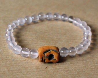 Pink Bones Quartz bracelet