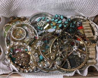 Mixed vintage to now jewelry, wear, repair, Repurpose, reuse, preowned #8980