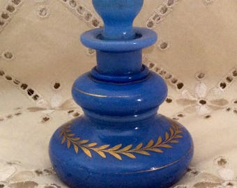 Antique French Opaline Perfume Bottle