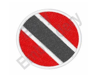 Trinidad And Tobago Flag - Machine Embroidery Design