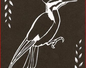 'Woodpecker' on canson paper