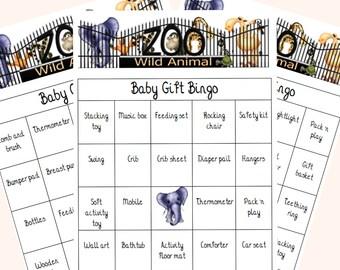 Baby Bingo; Baby Shower Bingo; Zoo Shower Games; Zoo Animal Bingo; Wild Animal Bingo; Baby Shower Games; Baby Games