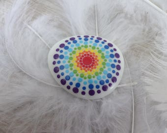 """Hand - painted glass Nugget """"Chakras"""""""