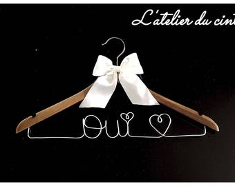 """Yes"" for your wedding hanger"