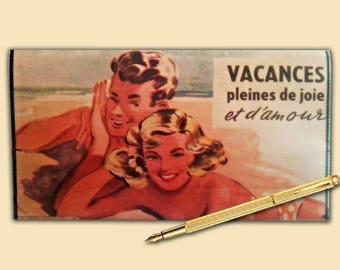 Checkbook: holiday joy and love - mid century ad