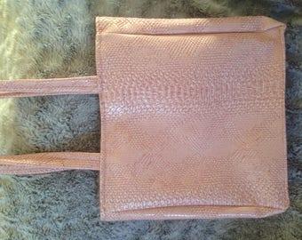 Powder Pink leatherette bag