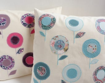 Flowers of fields, set of two cushions pillows