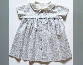 Summer dress short sleeves in liberty