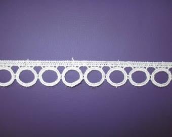 1.5 meters of trim ecru lace
